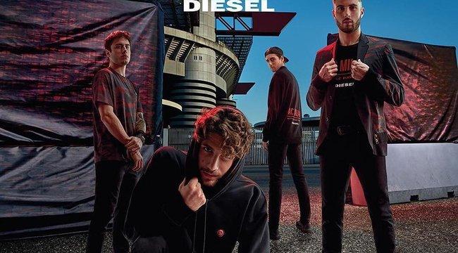 Nézze meg milyen, ha a Diesel focistákkal együtt tervez egy kollekciót