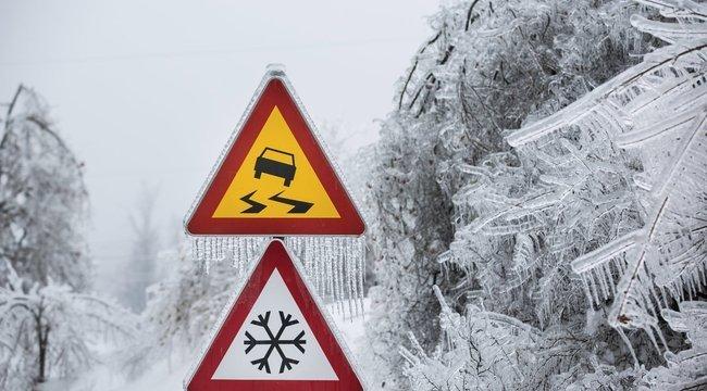 Mínuszok és hóesés - dermesztő hideg február végén