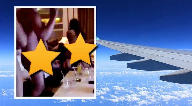 Vad orgiában lazítanak a légitársaság munkatársai - 18+ videó