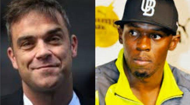 Ez ám a rangadó! Robbie Williams Usain Bolt ellen focizik