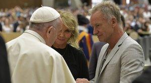 Így találkozott Sting Ferenc pápával - fotók