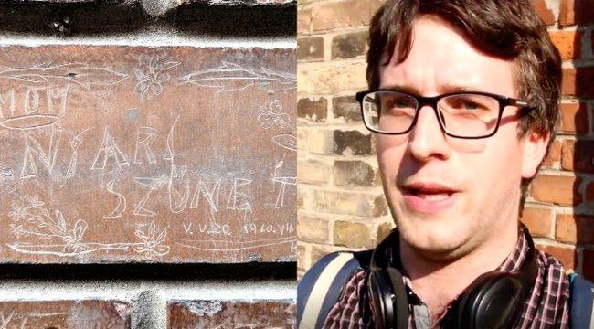 Budapest tégláinak rejtélyes üzenetét őrzi Vincent