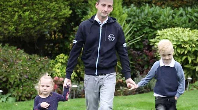 Gyermekeivel együtt tanult újra járni a kerekesszékes apa