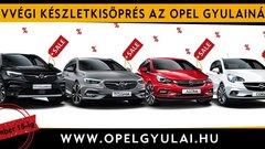Év végi készletkisöprés az Opel Gyulainál (x)