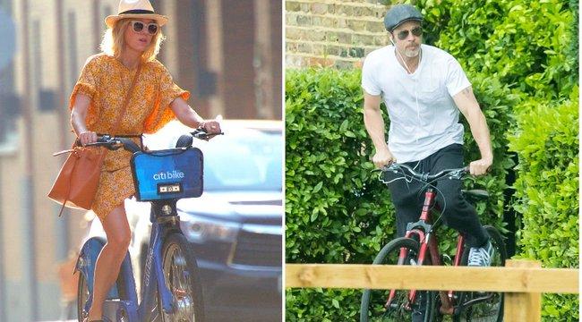 Sztárok nyeregben - Brad Pitt vagy Naomi Watts a furább látvány két keréken? fotók