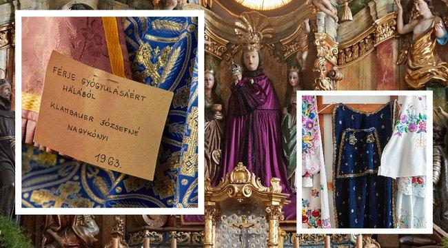 Egy évre elég ruhája van az andocsi Szűz Máriának