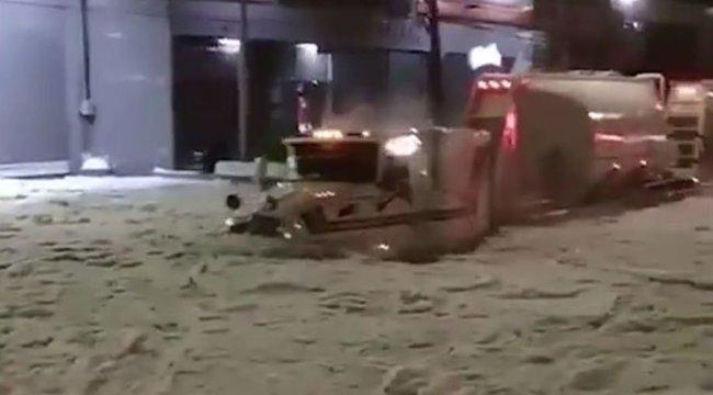 Brutális mennyiségű, majdnem két méter jégeső hullott Mexikóban – videó