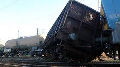 Kisiklott egy tehervonat Miskolcon
