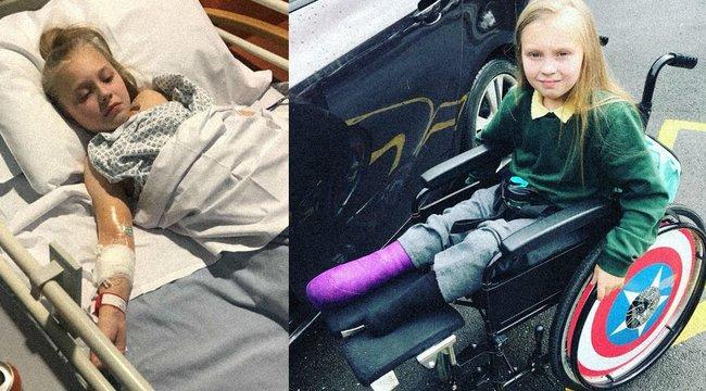 Azzal küldték haza az orvosok a kislányt: csak a gyomra rendetlenkedik egy kicsit - később mindkét lábát amputálni kellett