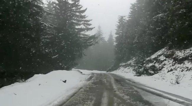 Máris itt a tél? Havazik a Börzsönyben
