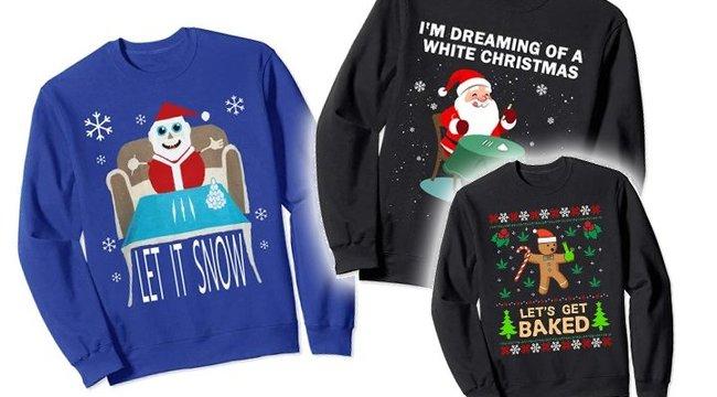 Nagyon úgy tűnik, hogy a drogos karácsonyi pulcsi az idei ünnepi trend