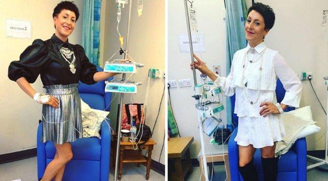 Nincs időm a betegségre - mondja a gyógyíthatatlan rákos anya, aki minden kezelésre a lehető legdivatosabban érkezik