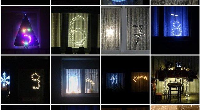 Ablakokban villanaz adventi naptár Szombathelyen