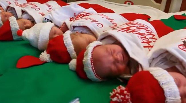 Annyira cuki! Karácsonyi csomagban engedik haza az újszülötteket egy amerikai kórházból