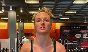 Hosszú Katinka már az edzőteremben van