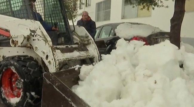 Ultrabrutális tél van Spanyolországban