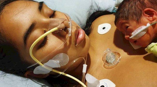 Egy rejtélyes betegség miatt csupán ujja mozgatásával tud beszélni kisbabájához az újdonsült anyuka