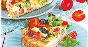 Mindmegette:Brokkolis-sonkás quiche