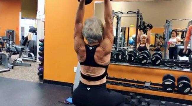 Félmillióan követik a fiatalokat megszégyenítő fittségű 73 éves nagyit – fotók