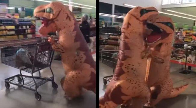A nap kérdése: mit csinál két dinoszaurusz egy élelmiszerboltban járvány idején?