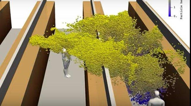 Hátborzongató videó: így terjed a koronavírus egyetlen köhögéssel az áruházakban