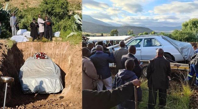 Bizarr temetés: koporsó helyett a kocsijában helyezték végső nyugalomra a politikust - fotók