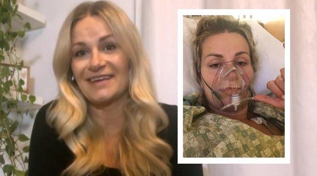 Lélegeztetőgépen, kómában, az életéért küzdve szülte meg a gyermekét