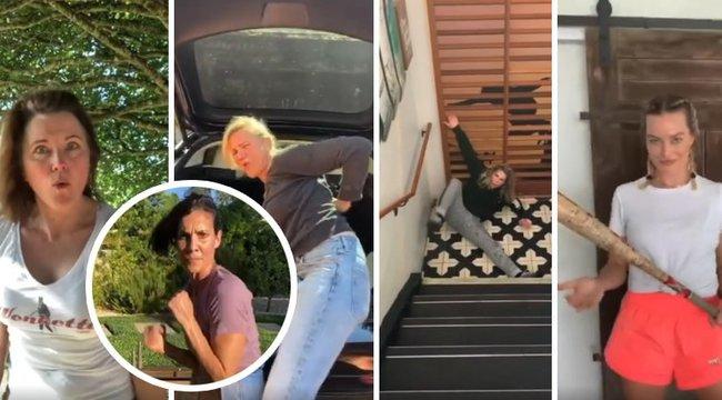 Elszabadult a pokol a hollywoodi karanténban: egymást ütlegeli Halle Berry és Margot Robbie - videó