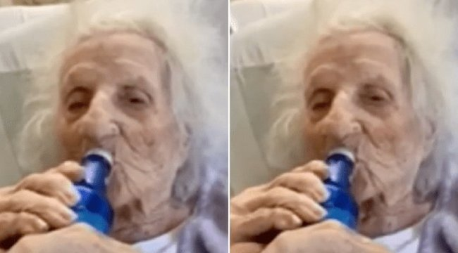 Legyőzte a koronavírust a 103 éves szuperdédi, meg is ünnepelte egy sörrel – videó