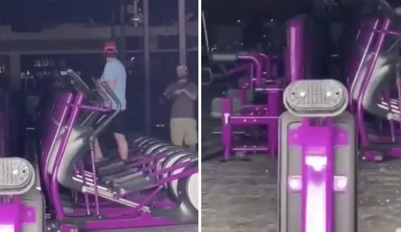 Bemászott egy betört kirakatüvegen, hogy edzhessen egy kicsit – videó