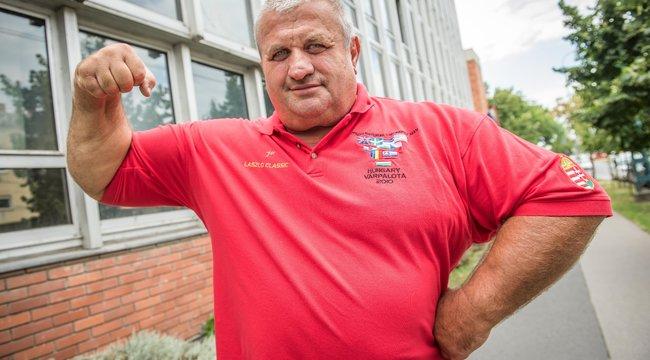62 évesen Fekete László újra az edzőteremeben izzasztja magát