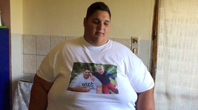 Szomorú Géza, Magyarország legsúlyosabb tinije: most csak négy kilót sikerült fogynia – videó