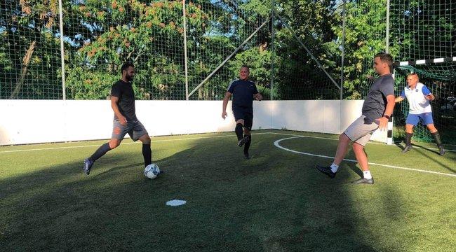 Kispályás fociban is klasszis Szilágyi Áron olimpiai bajnok kardozó