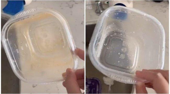 Nem tudja makulátlanul tisztára mosni műanyag edényeit? Ezzel a csodálatos trükkel menni fog! – videó