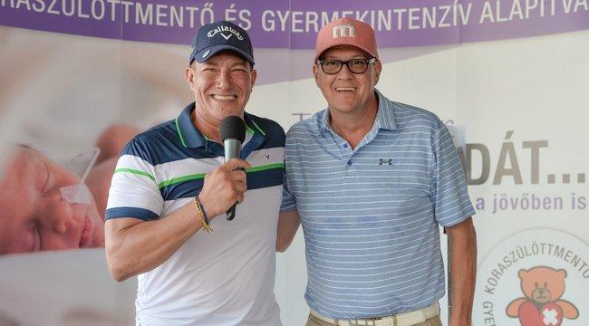 Koraszülötteket támogattak a golfozó sztárok
