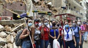 Bejrúti robbanás:Kézzel szedik a törmeléket a nálunk tanuló egyetemisták
