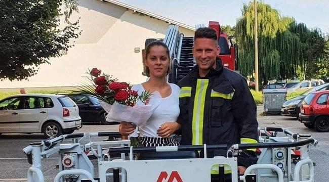 Modern magyar Rómeó: emelőkosárban kérte meg szerelme kezét a sátoraljaújhelyi tűzoltó