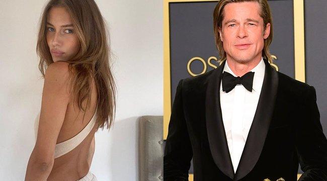 Szexi: Brad Pitt új barátnőjének meztelen testét csak egy ballonkabát takarja – fotó
