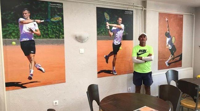 US Open: Kiállítással tiszteleg Fucsovics Marci előtt edzője