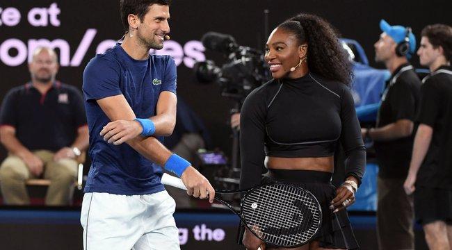 Djokovics most Serenát fűzi - Federer és Nadal már kikosarazta