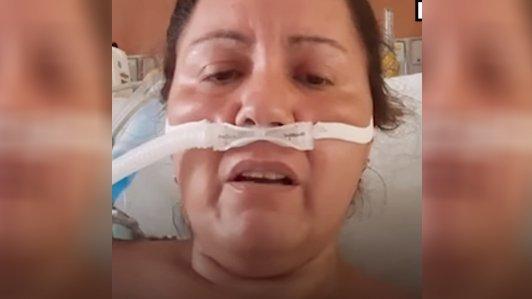 Halálos ágyáról, utolsó erejével üzent a koronavírusos asszony: Ez nem vicc– videó