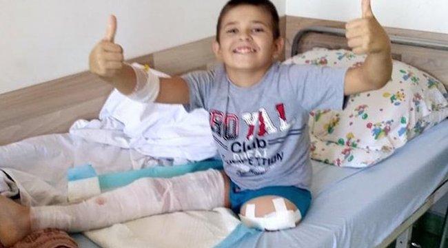 Horrorbaleset:Újra mosolyog az amputált lábú Gergő
