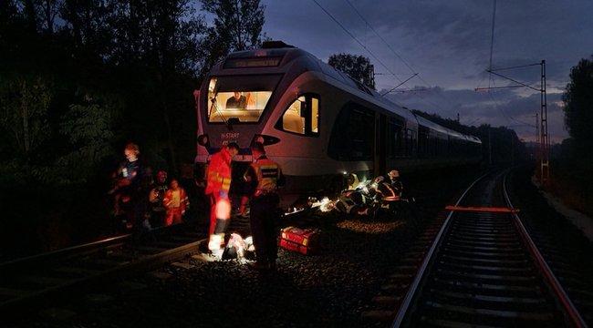 Gázolt a vonat Solymárnál, hihetetlen szerencsével élte túl az ötvenes férfi