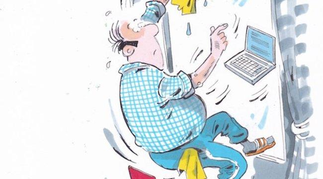 Otthoni munkavégzés -Munkahelyi baleset lehet az áramütés, a forrázás nem
