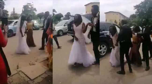Botrány az esküvőn: a templom előtt derült ki, a koszorúslánnyal töltötte az éjszakát a vőlegény – videó