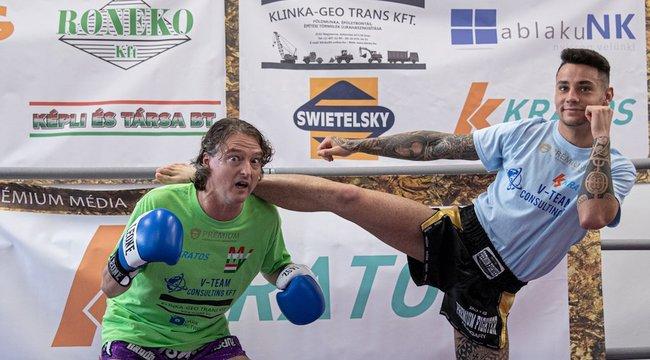 Akciófilmekben verekedne – thai box edzésre kísértük el Beleznay Endrét
