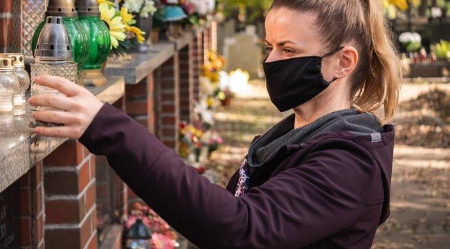 Halottak napja -A temetőben is húzzon magára maszkot!