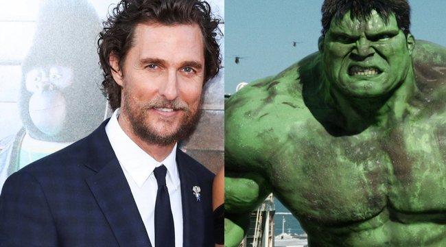 Hulk akart lenni Matthew McConaughey, de a Marvel visszautasította