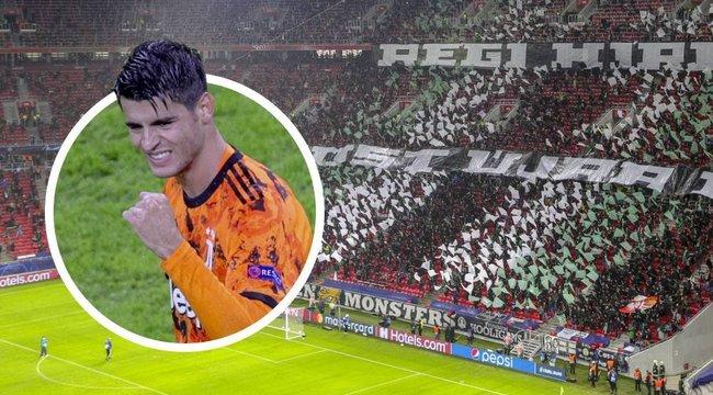 Morata a Fradi elleni meccsről: Felvillanyozott a magyar közönség