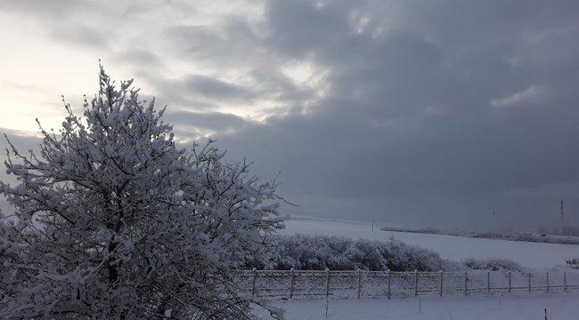 Lenyűgöző felvételek: fehérbe borult a táj Borsodban